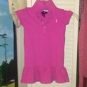 Ralph Lauren Girls 4T pink short sleeve dress